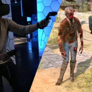 VR Halloween zombies